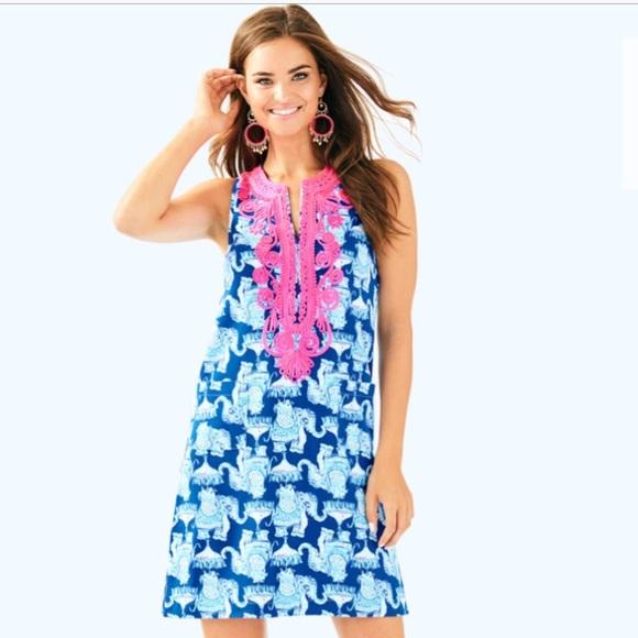 298792c139cbc8 Lilly Pulitzer Dresses | Carlotta Stretch Shift Dress Deep Indigo ...
